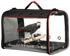 Colorday Lightweight Bird Carrier, Bird Travel Cage (Large 19 x 12 x 13, Black) - Mia's Pet Supply
