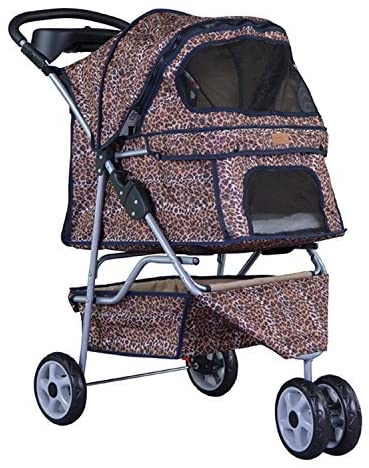 New BestPet 3 Wheels Pet Dog Cat Stroller w/RainCover