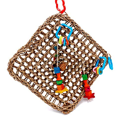 : Borange Bird  Toys Parrot Seagrass Activity Wall Birds - Mia's Pet Supply