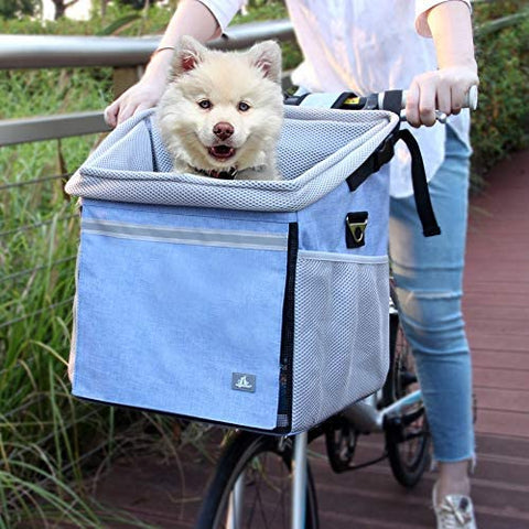 RAYMACE  Pet Bicycle Booster Carrier for Puppy or Small Breeds