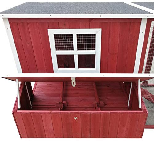 "ChickenCoopOutlet 87"" Wood Backyard Chicken Coop Hen House 4-6 Chickens - Mia's Pet Supply"
