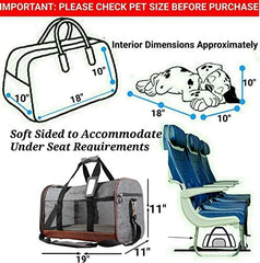 Mr. Peanut's Rhodium Series Airline Capable Soft Sided Pet Carrier - Mia's Pet Supply