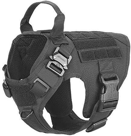 ICEFANG Tactical Dog Harness with 2X Metal Buckle, - Mia's Pet Supply