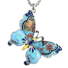 Luckeyui Colorful Butterfly Necklaces & Pendants Gift for Teen Women - Mia's Pet Supply