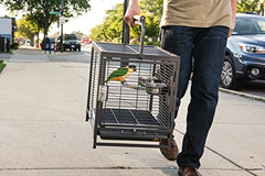 : Prevue Pet Products Travel Carrier for Birds, Black : Pet Supplies - Mia's Pet Supply