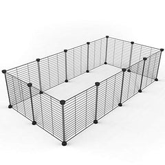 : Tespo Pet Playpen, Small Animal Cage Indoor Portable Metal Wire yd Fence - Mia's Pet Supply