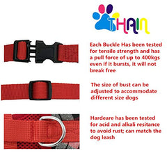 THAIN Soft Mesh Dog Harness with Leash Plaid Adjustable Dog No Pull Harnesses - Mia's Pet Supply