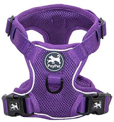 PoyPet Reflective Soft Breathable Mesh Dog Harness - Mia's Pet Supply