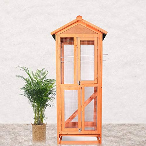 Vilobos Large Wooden Aviary Standing Vertical Play House - Mia's Pet Supply