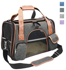 Premium Pet Carriers Dog Carriers Cat Carriers Rabbit Carriers with Bowl and Dog Training Pouch - Mia's Pet Supply