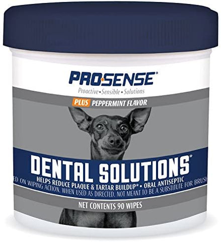 Pro-Sense P-87073 Plus Peppermint Flavor Dental Solutions Wipes, 90 Count