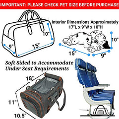 Mr. Peanut's Airline Approved Soft Sided Pet Carrier - Mia's Pet Supply