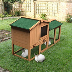 "Tangkula Large Chicken Coop, 58"" Wooden Hen House - Mia's Pet Supply"