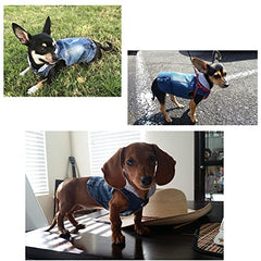 Cool Blue Denim Coat Small Medium Dogs - Mia's Pet Supply