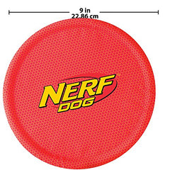 Pet Supplies : Pet Flying Discs : Nerf Dog Nylon Flying Disk Dog Toy, Large, Red : - Mia's Pet Supply