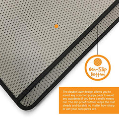 Cat Litter Mat Trapper Water Resistant Scatter Control Easy Clean Light - Mia's Pet Supply