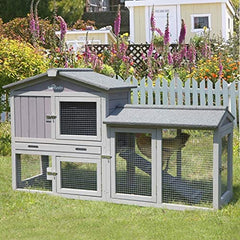 Aivituvin Expandable Chicken Coop Large Rabbit Hutch - Mia's Pet Supply