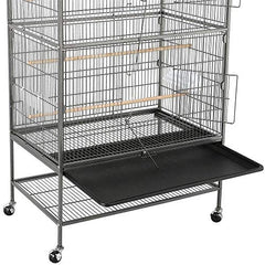Topeakmart Wrought Iron Large Flight Parrot Bird Cage for Multiple Parakeets - Mia's Pet Supply