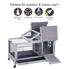 Rabbit Hutch, Bunny Cage - Mia's Pet Supply