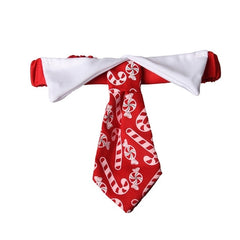 Christmas Pet Tie Dog Accessories Candy Print Bow - Mia's Pet Supply