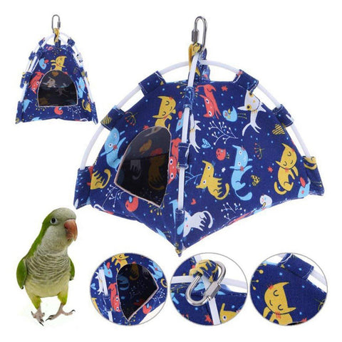 High Quality Bird Tent Shaped Hammock Pet Cage Swing Perch - Mia's Pet Supply