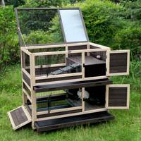 Rabbit Hutch Bunny Cage Indoor and Outdoor - Mia's Pet Supply