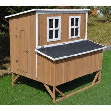 New Large Wood Chicken Coop Backyard Hen House 4-8 Chickens w 4 nesting box - Mia's Pet Supply