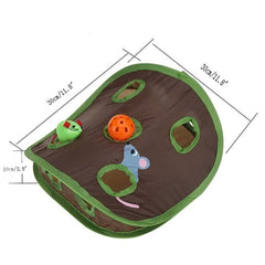Cat Tunnel Foldable Pet Cat toys Educational Toys Mouse Hole Cats Catch Funny Ball Bells Pet Supplies - Mia's Pet Supply