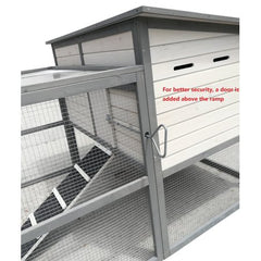 "ChickenCoopOutlet 122"" Wood Chicken Coop Backyard Hen House 4-6 Chickens - Mia's Pet Supply"