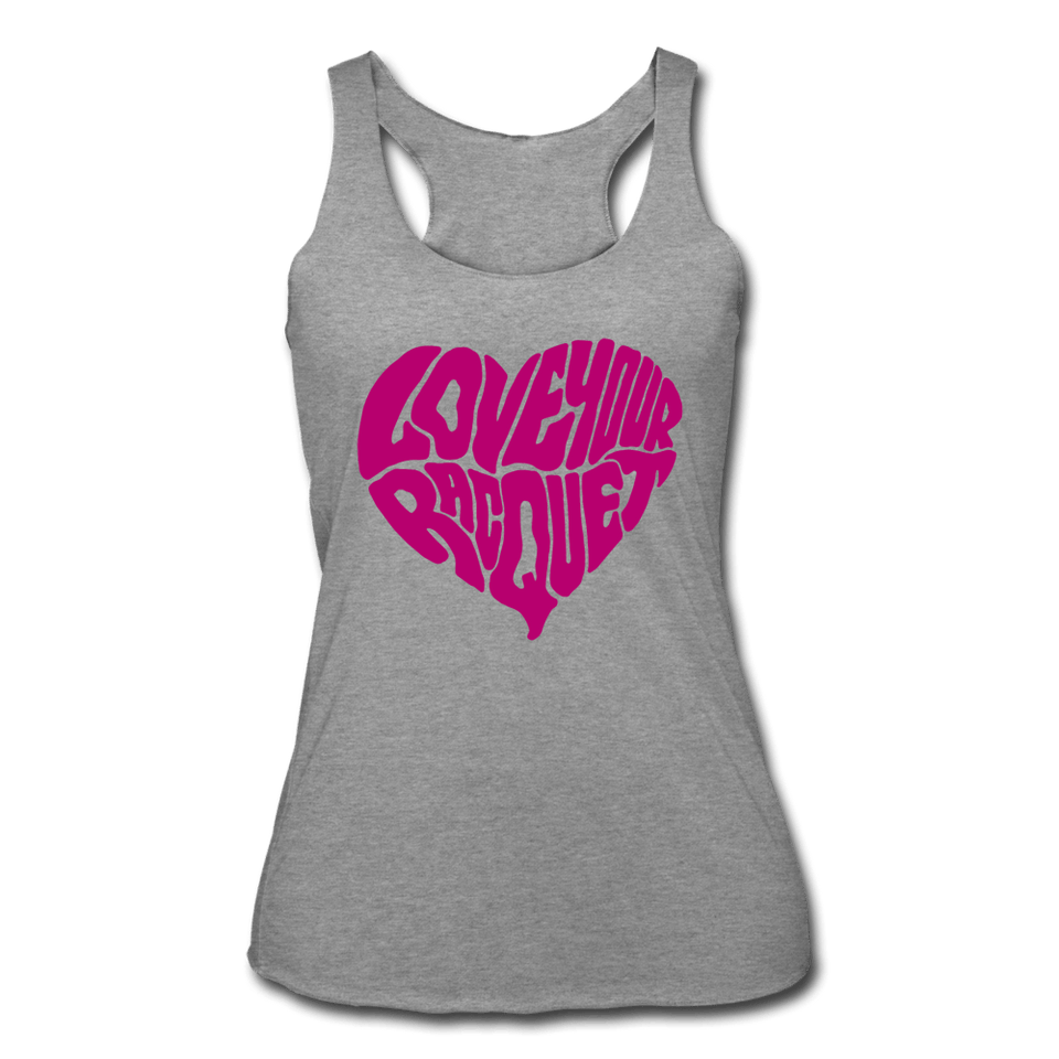 Love Your Racquet Women's Tri-Blend Racerback Tank - heather gray
