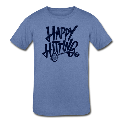 Happy Hitting Kids' Tri-Blend T-Shirt - heather Blue