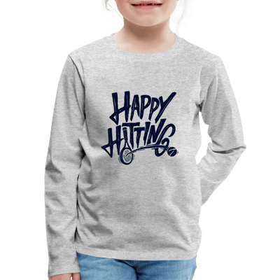 Happy Hitting Kids' Premium Long Sleeve T-Shirt - heather gray