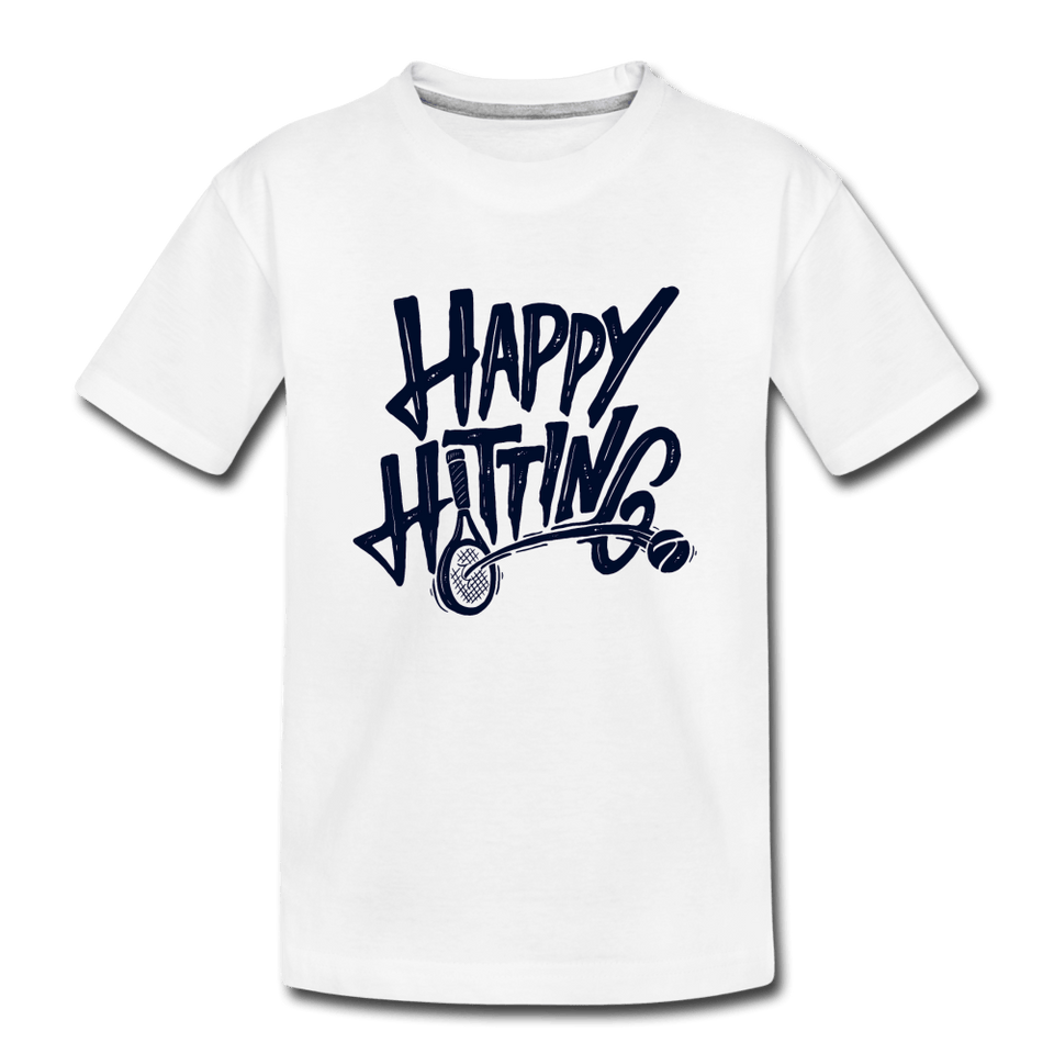 Youth Happy Hitting Tee - white