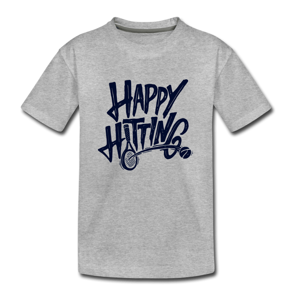 Youth Happy Hitting Tee - heather gray