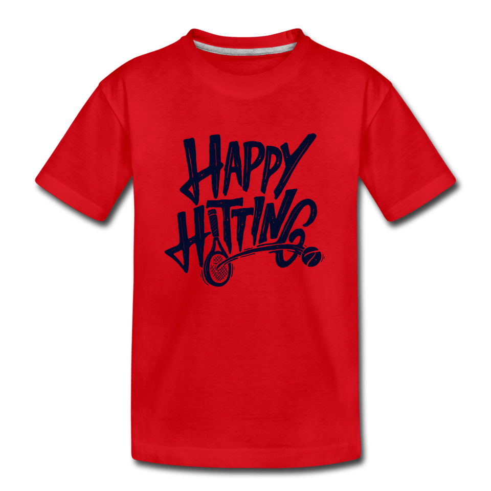 Youth Happy Hitting Tee - red