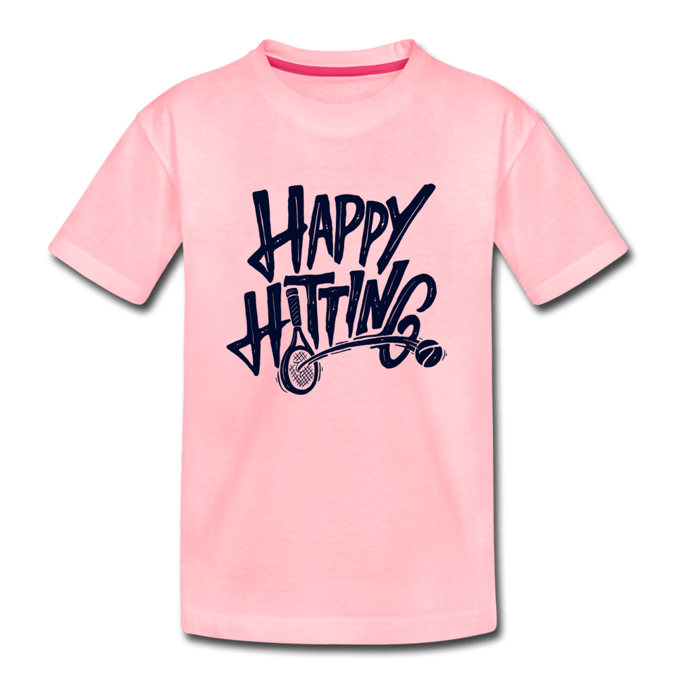Youth Happy Hitting Tee - pink