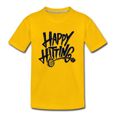 Youth Happy Hitting Tee - sun yellow