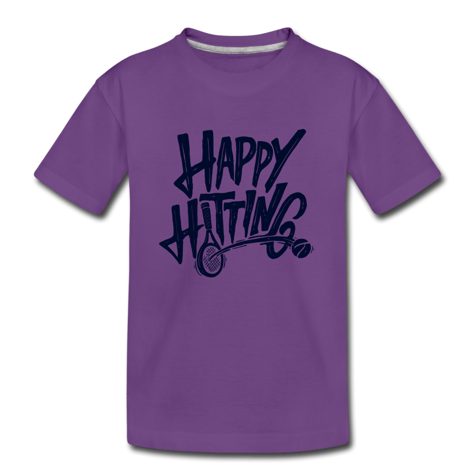 Youth Happy Hitting Tee - purple
