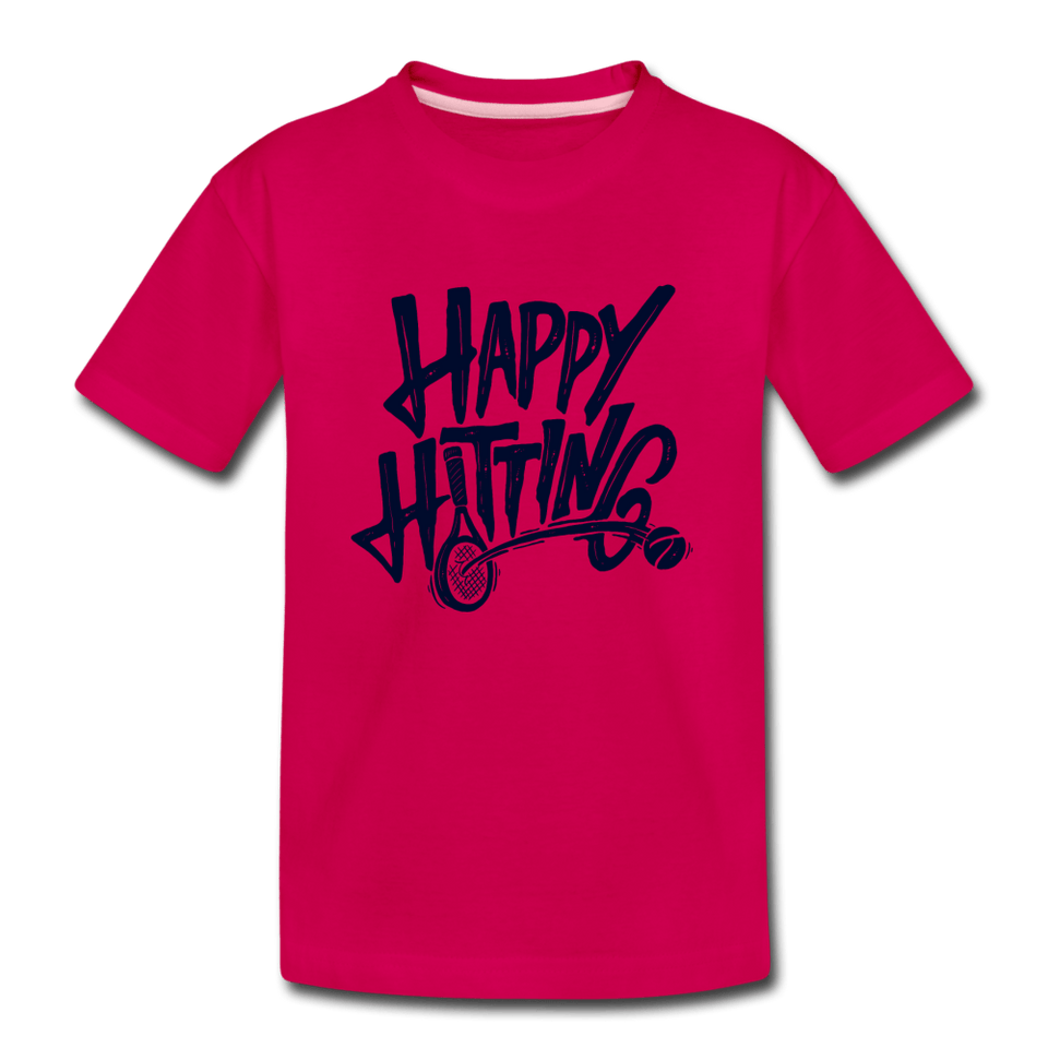 Youth Happy Hitting Tee - dark pink