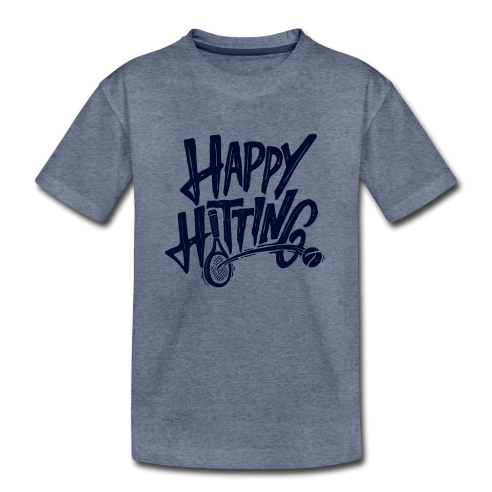 Youth Happy Hitting Tee - heather blue