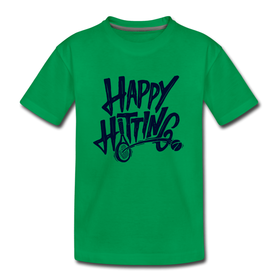 Youth Happy Hitting Tee - kelly green