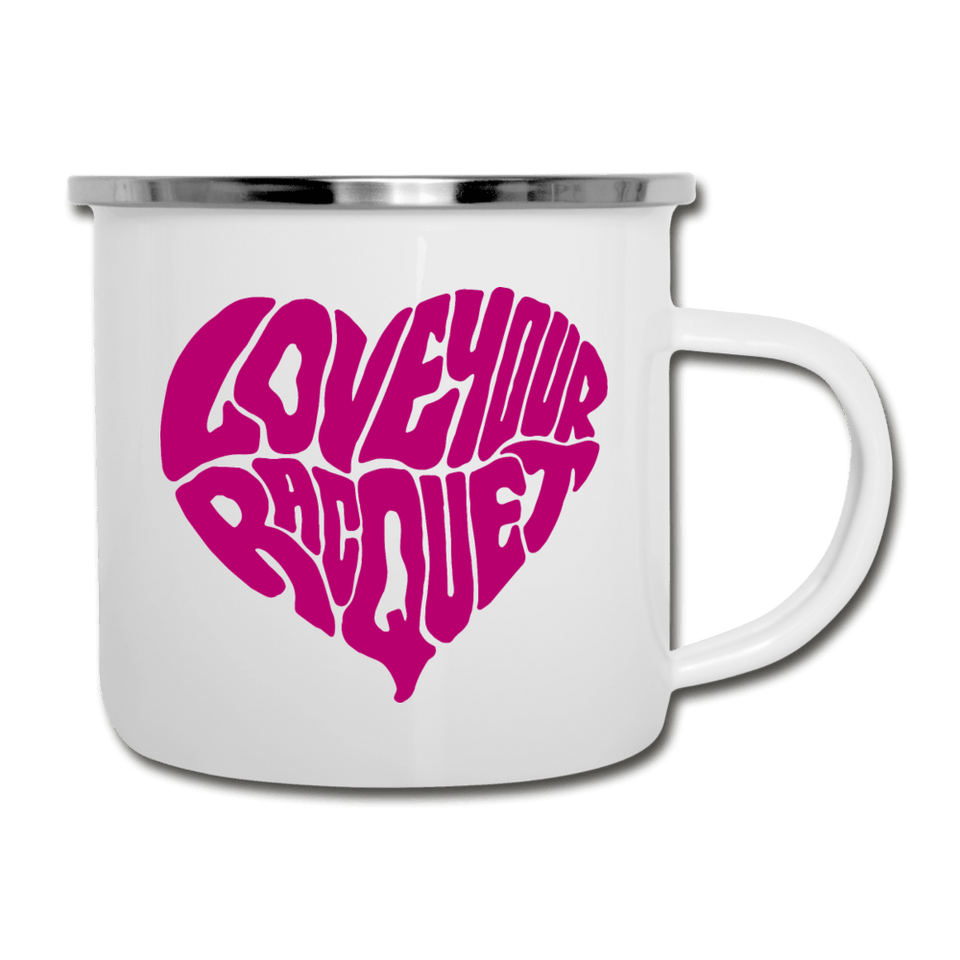 Love Your Racquet Camper Mug - white