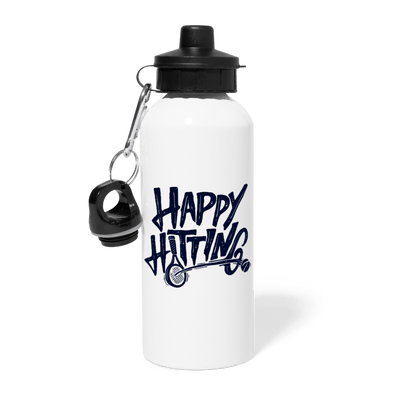 Happy Hitting Water Bottle - white