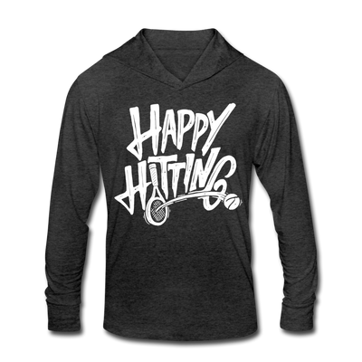 Happy Hitting Unisex Tri-Blend Hoodie - heather black