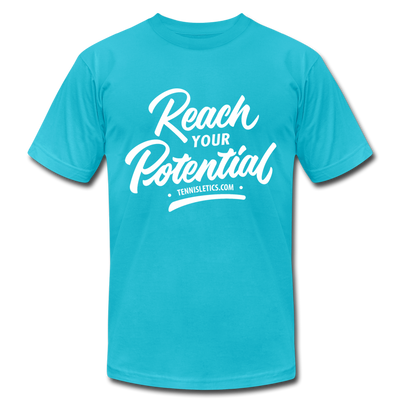 Reach Your Potential Unisex Jersey T-Shirt - turquoise