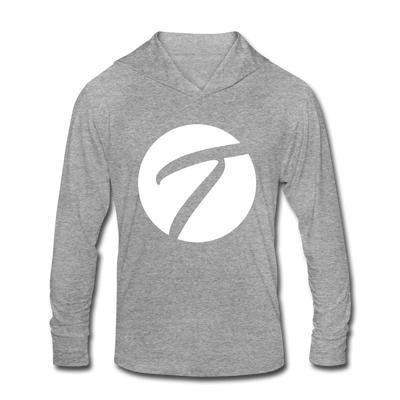 Unisex Tennisletics Tri-Blend Hoodie Shirt - heather gray