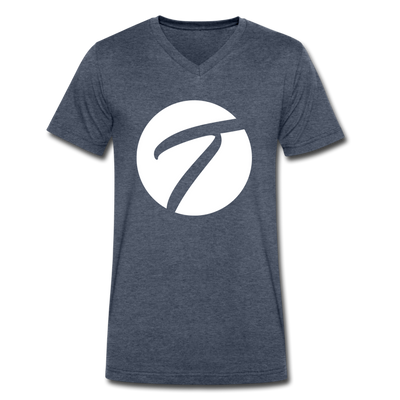 Tennisletics Men's V-Neck T-Shirt - heather navy