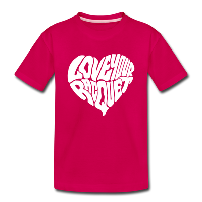 Youth Love Your Racquet Tee - dark pink