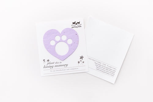 (Set of 12) Parting Tails® Forget-Me-Nots, Pet Memorial Cards