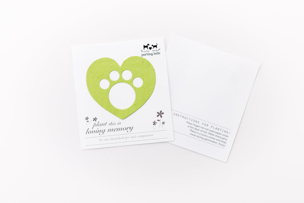 Parting Tails® Forget-Me-Nots, Pet Memorial Card